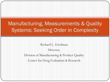 Importance of Quality and Measurement - PQRI