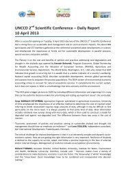 Wednesday, 10 April 2013 - UNCCD 2nd Scientific Conference