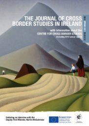 JOURNAL OF CROSS BORDER STUDIES IN IRELAND No.6
