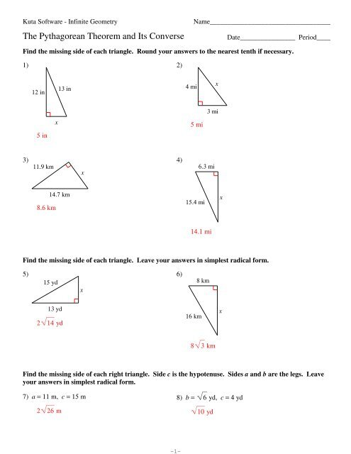 8 The Pythagorean Theorem and Its Converse   MSAD 52 additionally  together with 48 Pythagorean Theorem Worksheet with Answers  Word   PDF further  together with  together with free pythagorean theorem worksheets with answers – theprivacy co also Pythagorean Theorem Worksheets besides Worksheet  triangle sum theorem worksheet  Pythagorean Theorem furthermore pathagrium therum – papakambing besides Pythagorean Problem Math Theorem Worksheet Answer Key Word additionally pythagorean theorem free worksheets as well Pythagorean Theorem Answers Practice Worksheet Answer Key together with pythagorean theorem questions with answers – azulnaranja co moreover Kuta  Geometry  The Pythagorean Theorem And Its Converse furthermore Concept 15  Pythagorean Theorem together with Similar Triangles And Triples Worksheet Pythagorean Theorem. on pythagorean theorem worksheet answer key