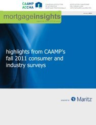 Mortgage Insights Report - CAAMP