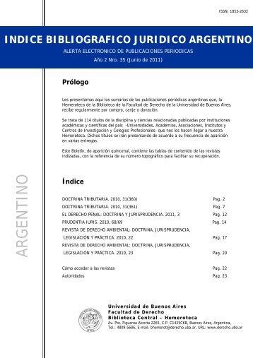 bibliografico juridico argentino - Facultad de Derecho - Universidad ...