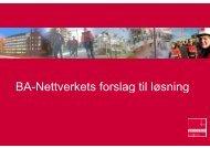 BA-Nettverkets forslag til løs ttverkets forslag til løsning