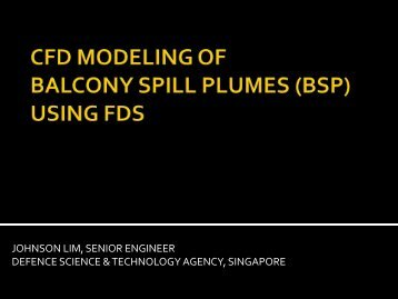 CFD Modeling of Balcony Spill Plumes Using FDS