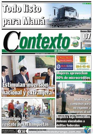 07/06/2013 - Contexto de Durango