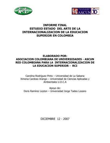 informe final estudio estado del arte de la internacionalizacion de la ...