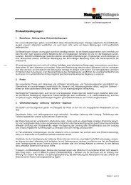 Einkaufsbedingungen - Hammerwerk Fridingen GmbH