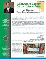 District 2 December Newsletter - Santa Rosa County