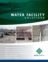 water facility - Euclid Chemical Co