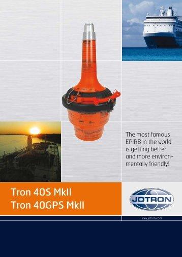 Tron 40S MkII Tron 40GPS MkII - Uni-Safe Electronics a/s