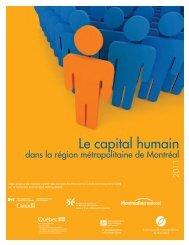 Le capital humain dans la région métropolitaine de Montréal ...
