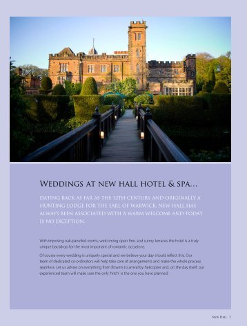 Weddings at new hall hotel & spa… - Hand Picked Hotels