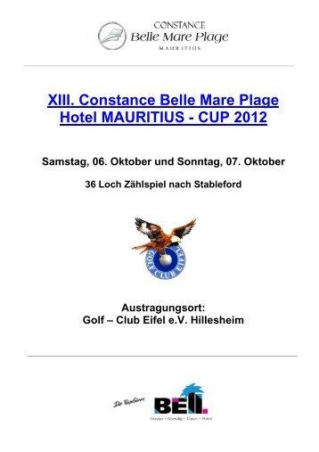 XIII. Constance Belle Mare Plage Hotel ... - Golf Club Eifel e.V.