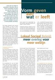 Dossier Lokaal Sociaal Beleid - Weliswaar