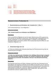 Anträge Statutenrevision (Traktandum 6) - Verband Schweizerischer ...