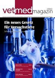 Ein neues Gesetz für Versuchstiere - Veterinärmedizinische ...