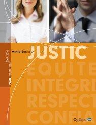 Plan stratégique 2007 2010. - Ministère de la Justice ...