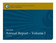 Annual Report – Volume I - Florida Board of Governors
