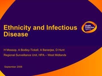 Ethnicity and Infectious Disease
