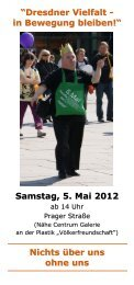 """""""Dresdner Vielfalt - in Bewegung bleiben!"""" Samstag, 5. Mai 2012 ..."""
