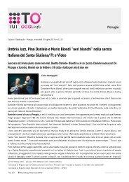 Umbria Jazz, Pino Daniele e Mario Biondi
