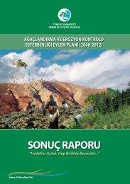 sonuç raporu - Çölleşme ve Erozyonla Mücadele Genel Müdürlüğü