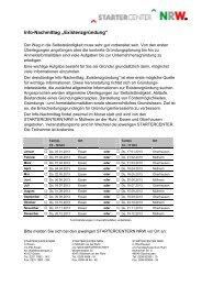 Termine 2013 für Infonachmittage können Sie hier als PDF ...