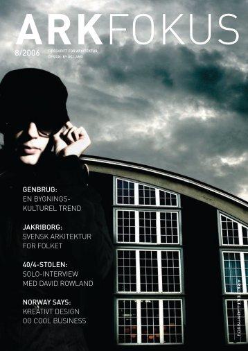 GENBRUG: EN BYGNINGS- KULTUREL TREND ... - Arkitektforbundet