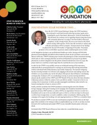 November 2012 CPNP Foundation Newsletter - College of ...