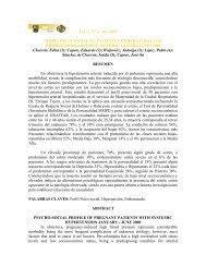 Vol. 5, N° 2. Año 2001 PERFIL PSICO-SOCIAL EN PACIENTES ...