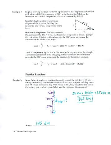 Worksheets Vector Basics Worksheet Answers physics vector worksheet answers intrepidpath basics worksheet