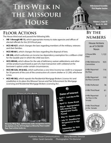March 30, 2009 - Missouri House of Representatives