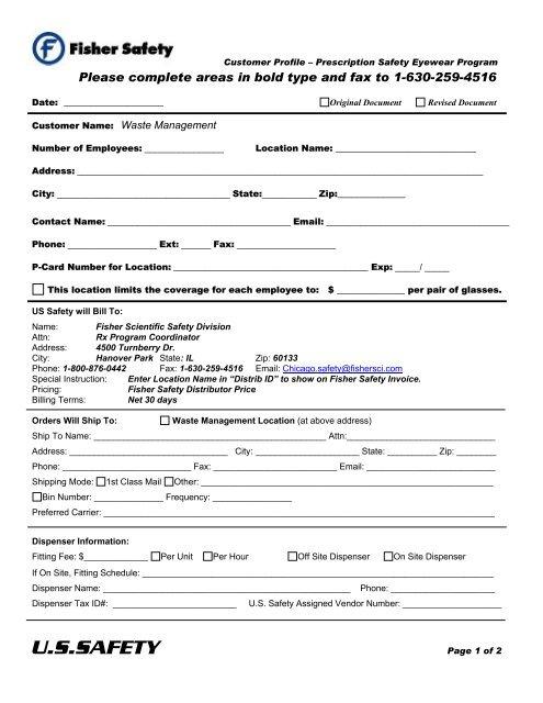 Waste Management Customer Profile - US Safety
