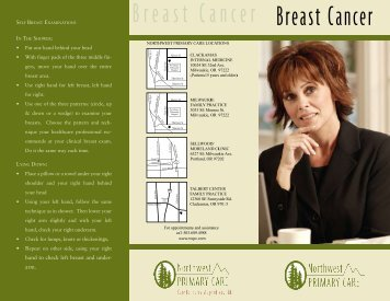 Breast Cancer Breast Cancer - NW Primary Care