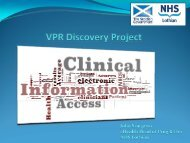 SG Clinical Portal discovery project – John Sturgeon - BCS - Health ...
