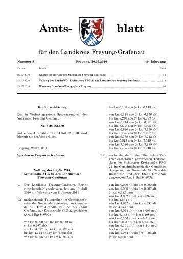 Amts- blatt - Landkreis Freyung-Grafenau