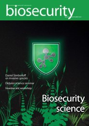 Biosecurity science Biosecurity science - Biosecurity New Zealand