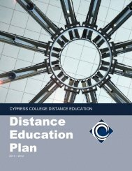 Cypress College Distance Education Plan 2011 - 2014