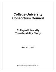 College-University Transferability Study - ONTransfer