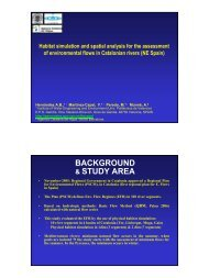 Habitat simulation and spatial analysis for the assessment of ...