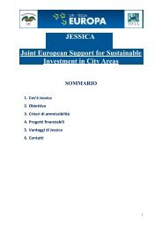 JESSICA Joint European Support for Sustainable ... - Patto dei Sindaci