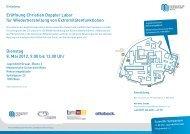 Eröffnung Christian Doppler Labor für Wiederherstellung von ...