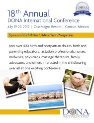 here - DONA International