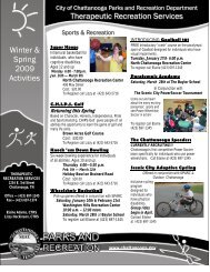 Ongoing Programs Winter & Spring 2009 Activities Therapeutic ...