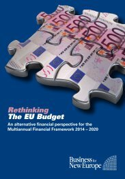 Rethinking The Eu Budget - Business for New Europe