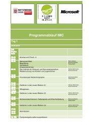 Programmablauf IMC Tag 1 - Medienkompetenz-Hessen