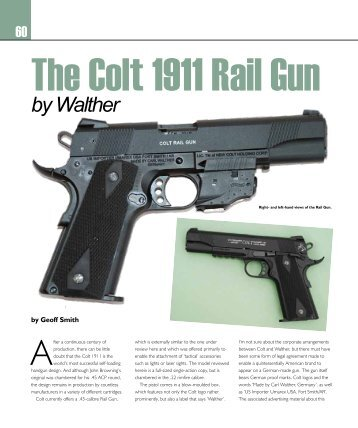 The Colt 1911 Rail Gun - Frontier Arms