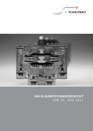 Zwischenbericht0207 für pdf - Schaltbau Holding AG
