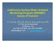 California's Surface Water Ambient Monitoring Program (SWAMP ...
