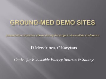 Heat Pump - GROUND-MED project